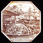 RARE Advertising Tile ~  Ceylon Tea 1888