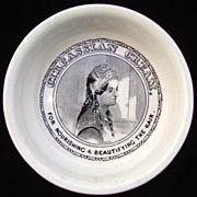 Circassian BEAUTY Cream Black Transfer Printed Pot ~ 1890