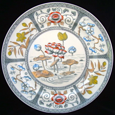 Polychrome Transferware Plate ~ JAPAN 1883
