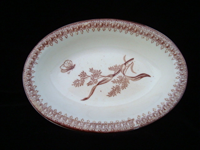 Victorian Brown Transferware Tray ~ SUMMERTIME 1885