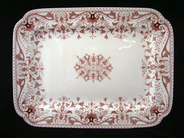 Large Aesthetic Movement Platter ~ TOURNAY 1885