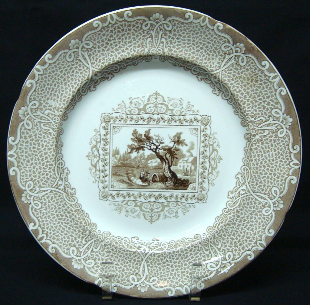 Large Staffordshire Pearlware Plate ~ GIPSY 1840