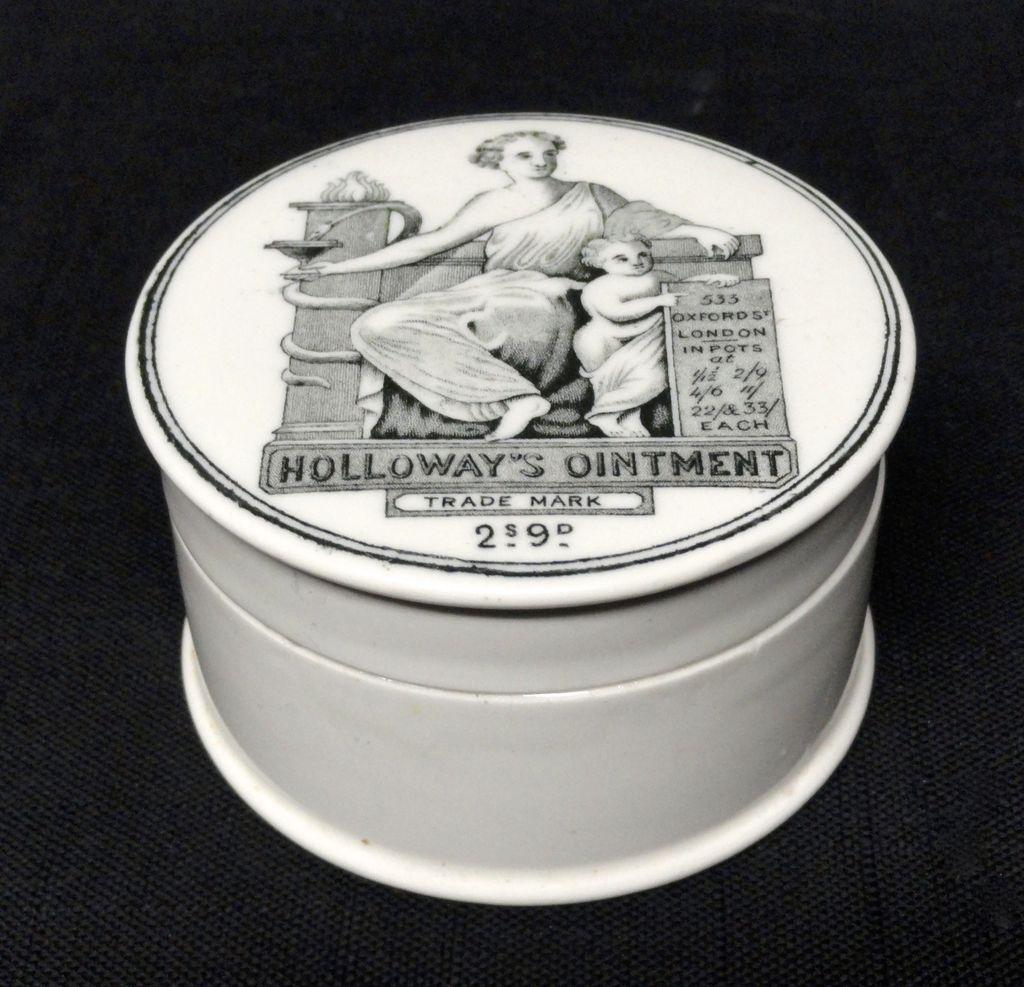 Quack Medicine Holloway's Ointment Cure-All Pot ~ 1880