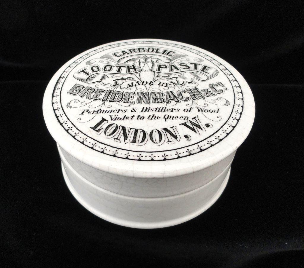 Quack Medicine Rare Carbolic Tooth Paste Pot and Lid 1885
