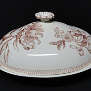 Wedgwood BOTANICAL Creamware Covered Server 1878