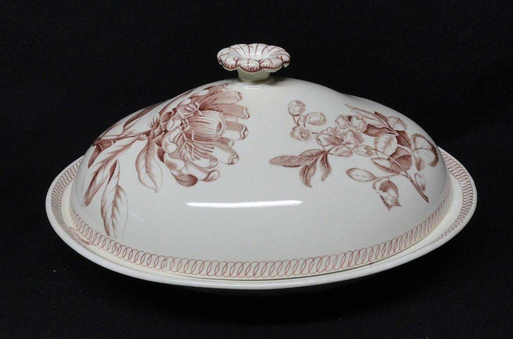 Wedgwood BOTANICAL Creamware Covered Server 1878