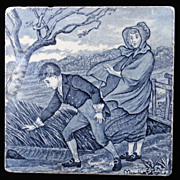 Tile ~ Wedgewood Month Series MARCH Helen Miles 1879