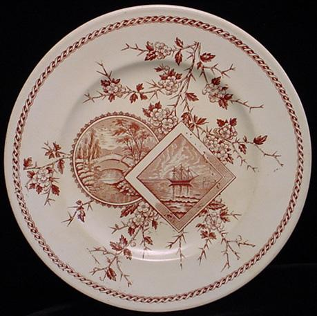 Aesthetic TALL SHIPS Brown Transfer Plate 1880