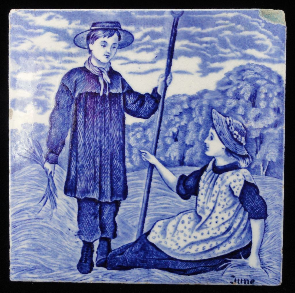 Tile ~ Wedgwood Months ~ JUNE 1879