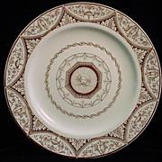 Rare Brown Transferware Plate ~ Cherub 1875