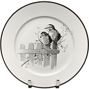 Pierre Mallet Brown Transferware ORNITHOLOGY Plate ~ 1870 #N