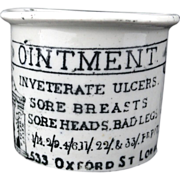 CURE ALL Quack Medicine HOLLOWAY'S OINTMENT Black Transferware 1880 Sore Breasts