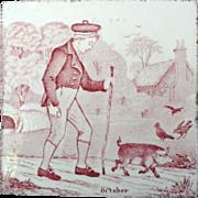 Wedgwood October Months Series Tile ~ 1879