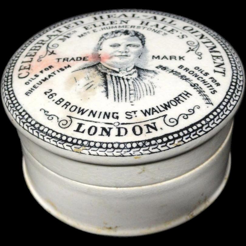 Quack Medicine ~ Heal - All Ointment Pot ~ 1880