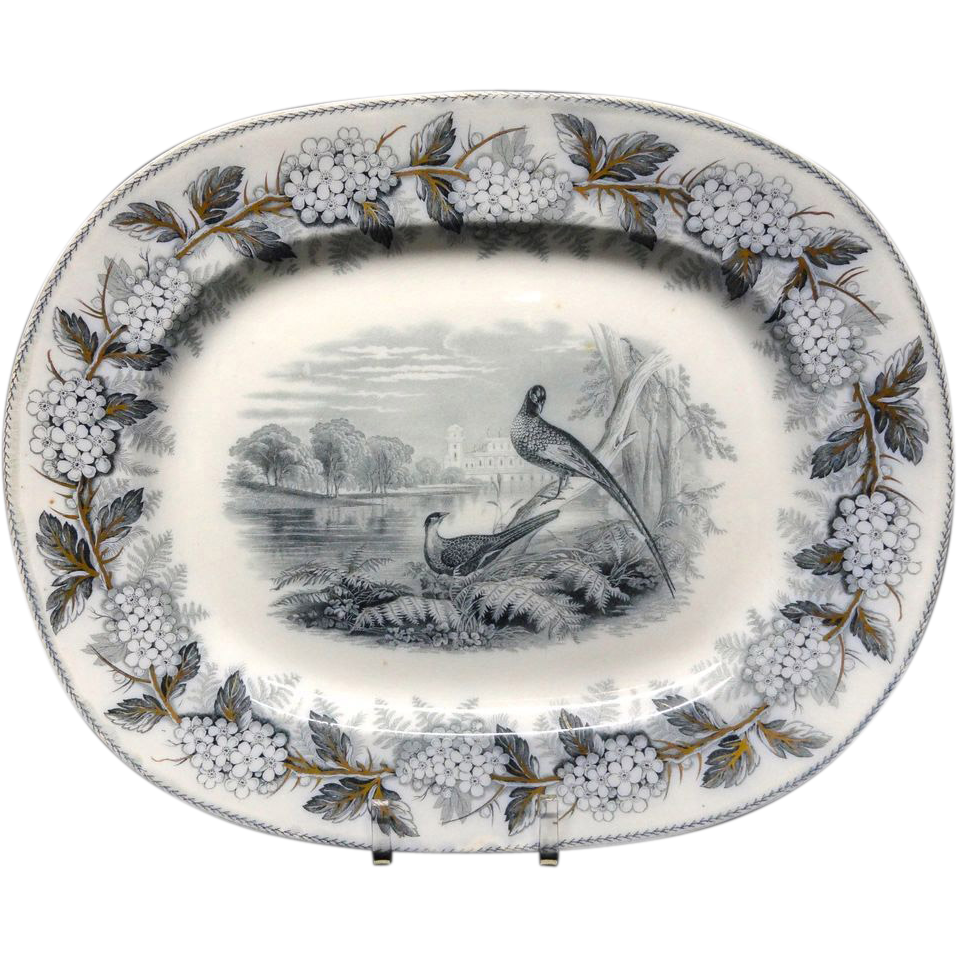 Mulberry Transfer Printed Platter ~ British Birds ~1847
