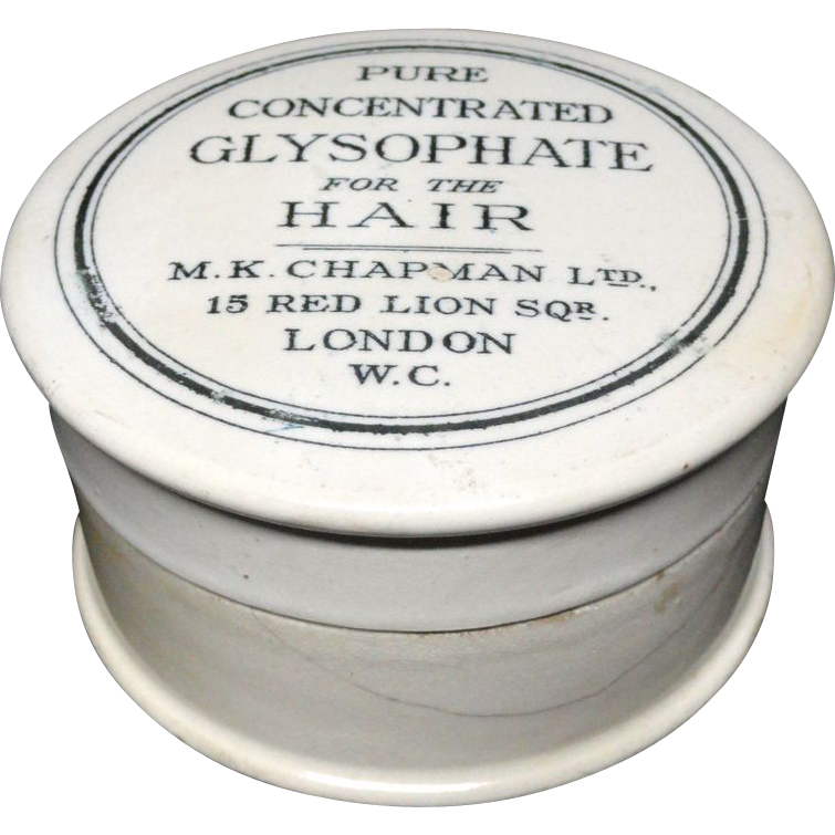 Concentrated Glysophate Hair Pot and Lid 1885