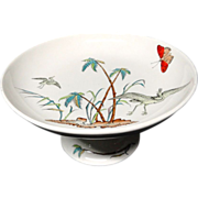 Victorian English Cake Tazza Comport ~ Copeland Egrets 1878