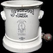 Beechwood Stoneware TONGUE Slicer ~ 1890