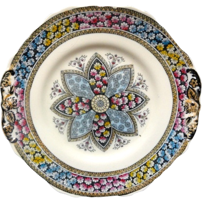 Aesthetic Movement Cake Plate ~ PRIMROSE 1881