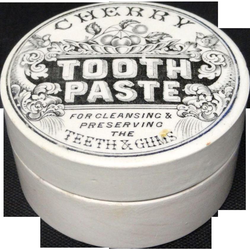 Superb Quack Medicine Cherry Tooth Paste Pot 1880