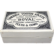 English Victorian Hygienic Cherry Tooth Paste Pot 1880