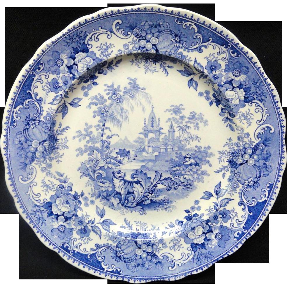 Staffordshire Blue Transferware ~ Indian Scenery 1830