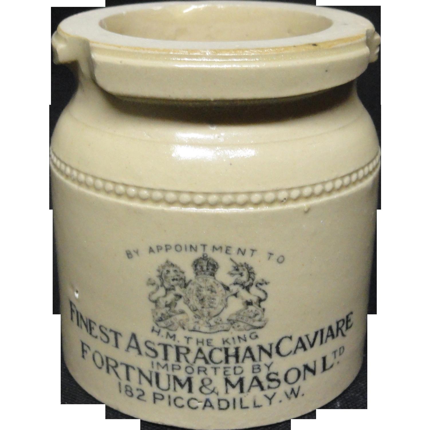 English Doulton Victorian Stoneware CAVIARE ~ 1890