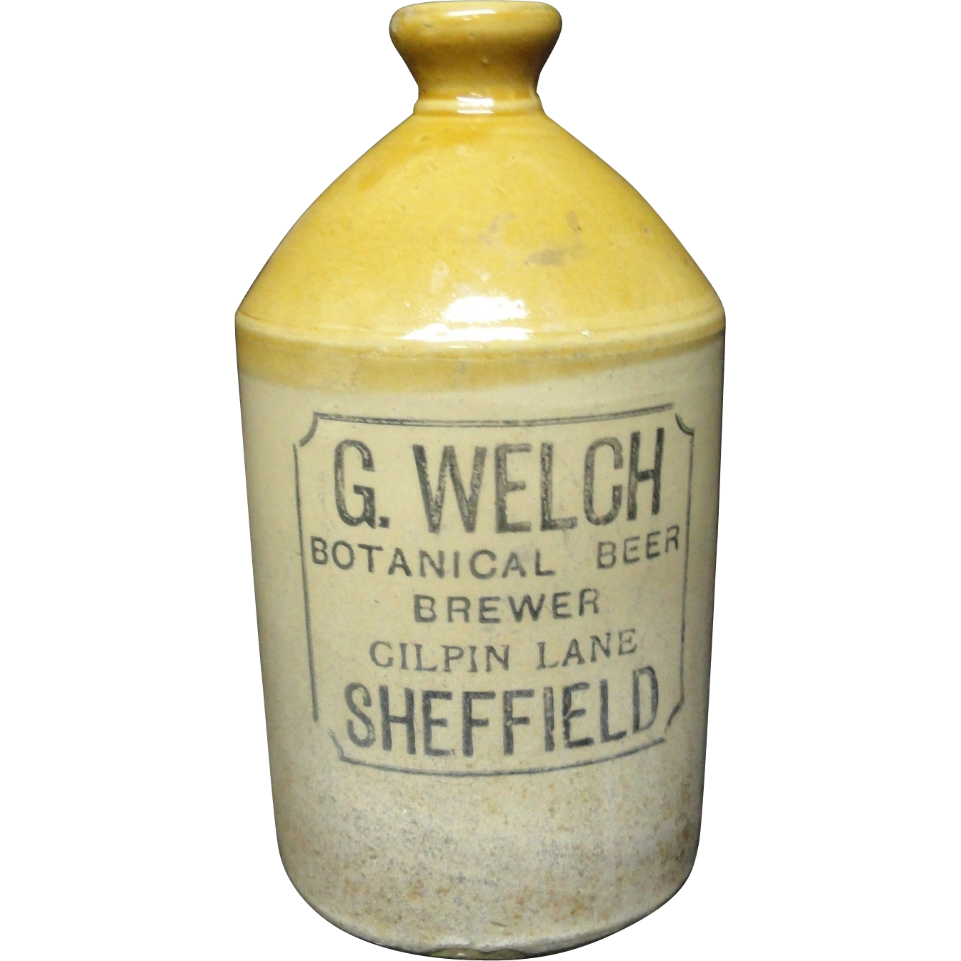 Ginger Beer Stoneware ~ Welch Botanical Beer ~ 1890