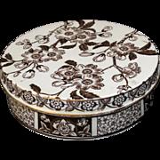Rare Wedgwood Creamware Aesthetic Transferware  Dresser Jar ~ Pot Lid & Base Etruria Staffordshire England 1885