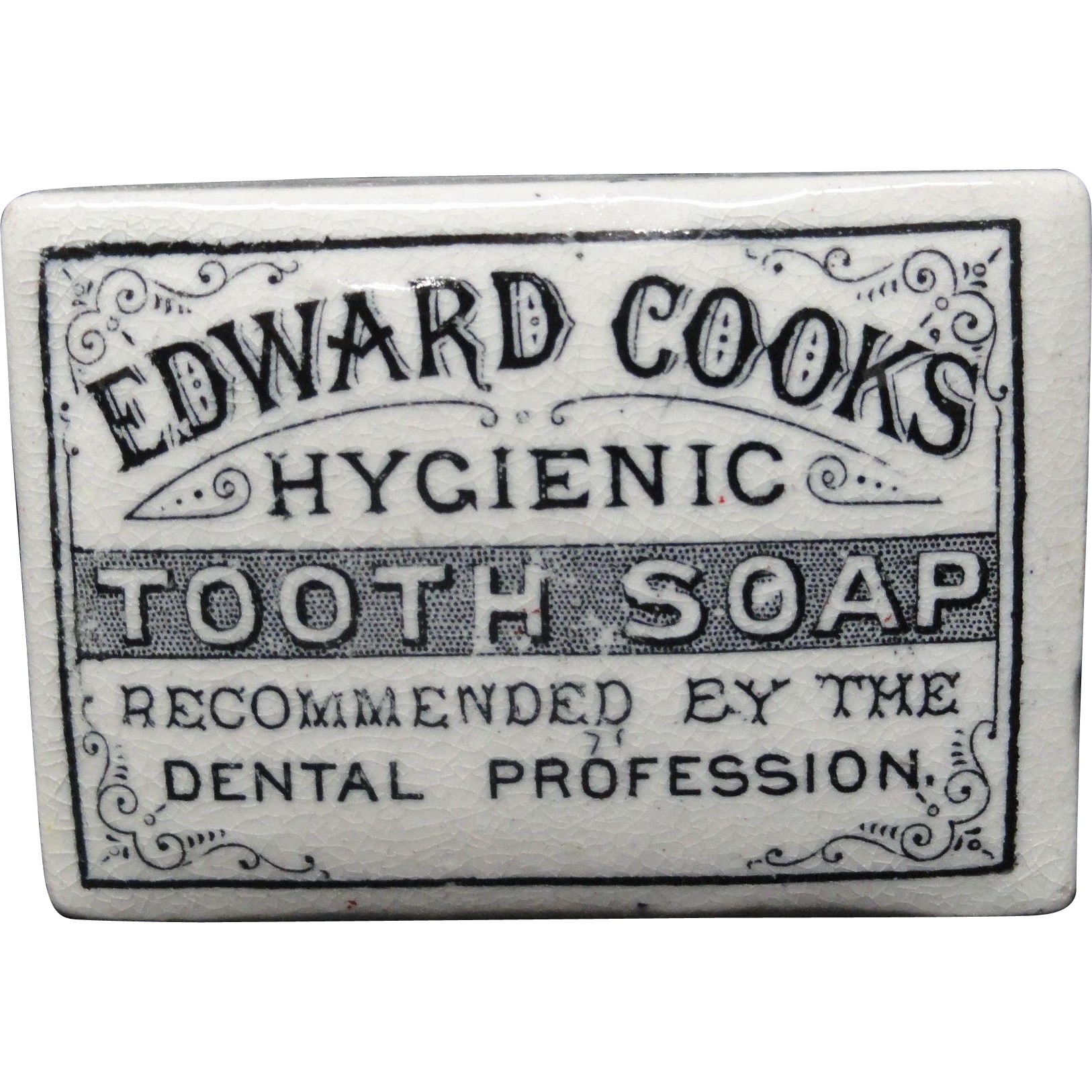 English Victorian Hygienic Cooks Tooth Soap Pot 1880