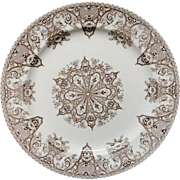Brown Aesthetic Victorian Plate ~ SNOWFLAKE 1882