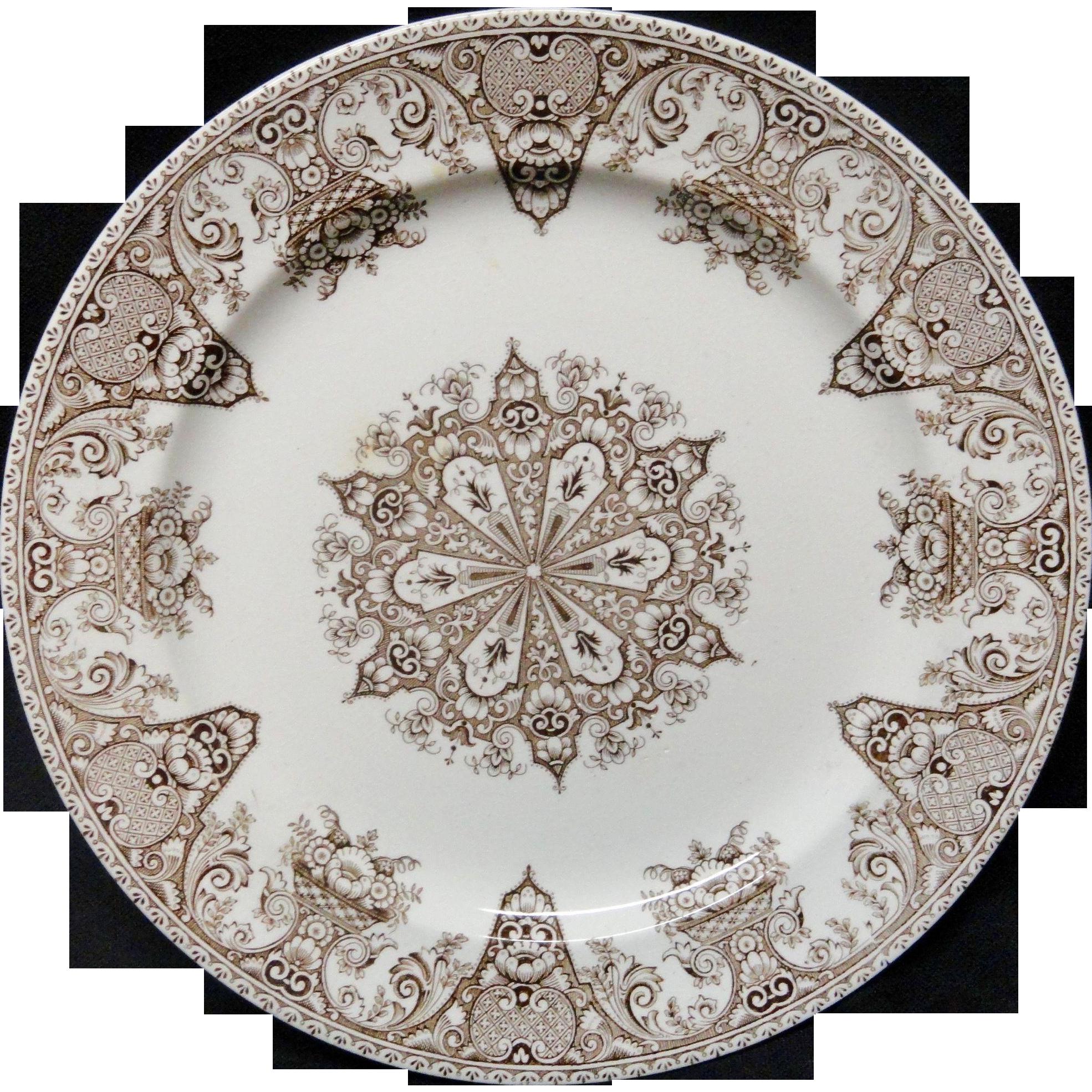 Brown Aesthetic Victorian Plate ~ SNOWFLAKE 1882