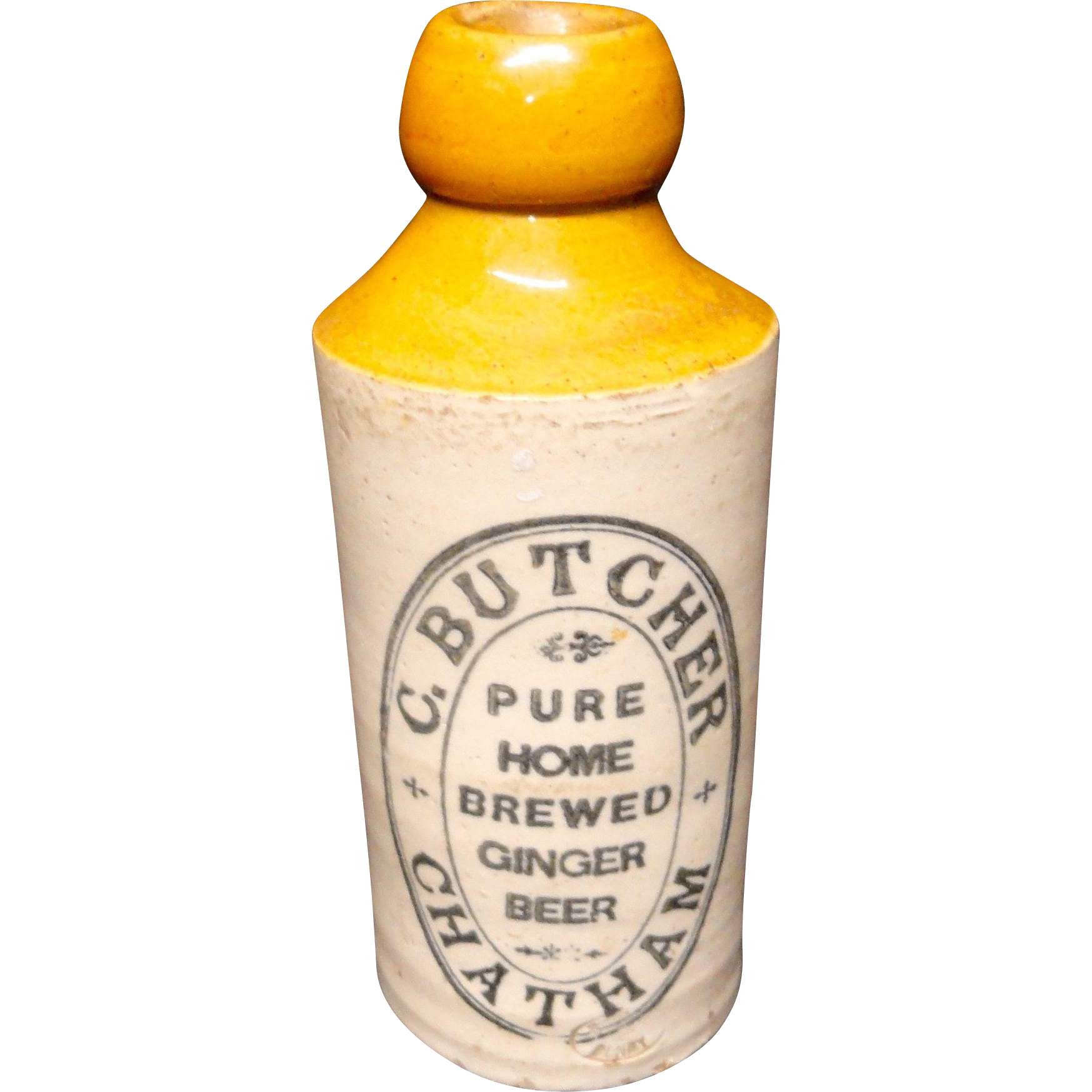 Butcher Ginger Beer Stoneware ~ 1890