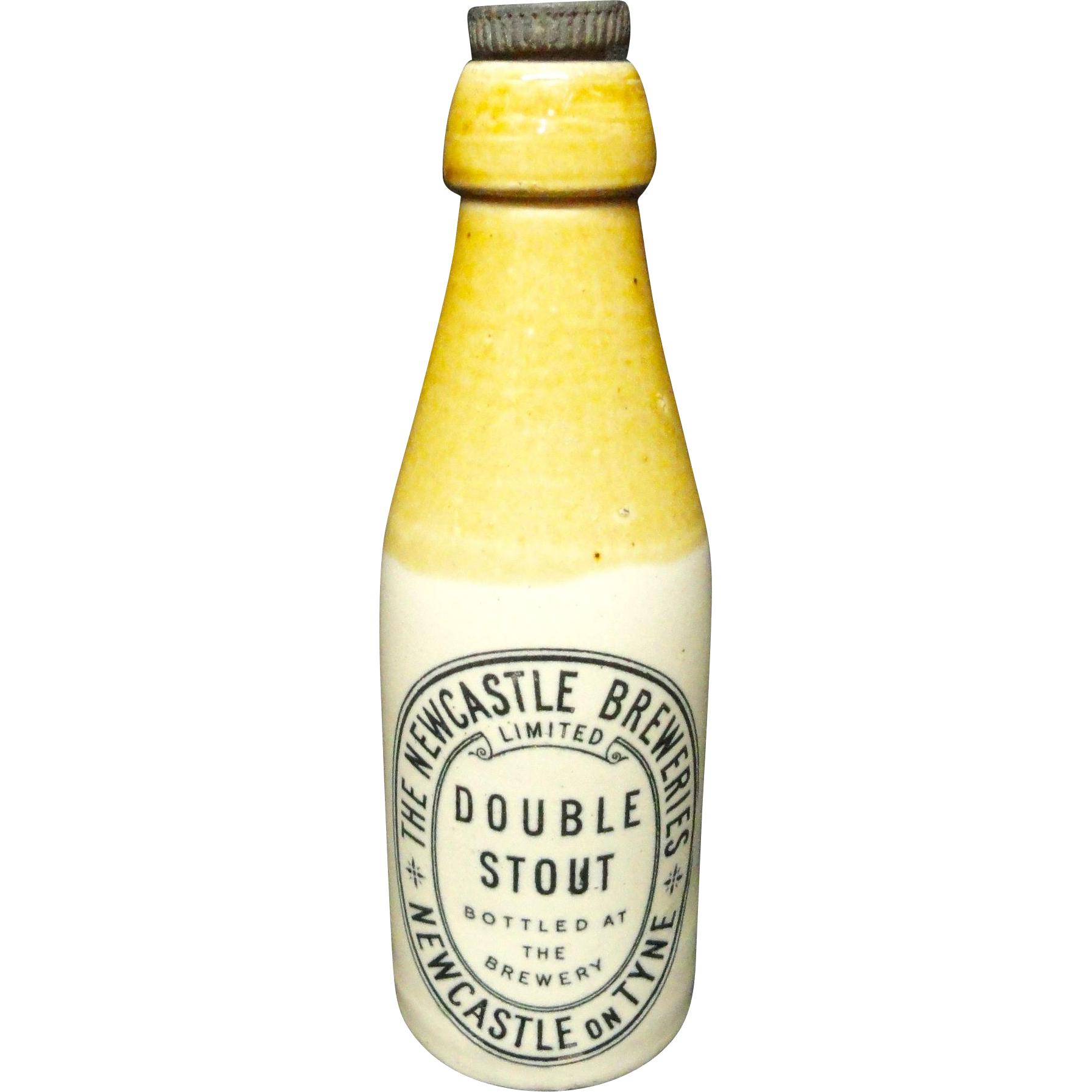 Stoneware Newcastle Double Stout Beer ~ 1890