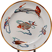 Royal Worcester Polychrome Plate ~ Rare Fish 1877