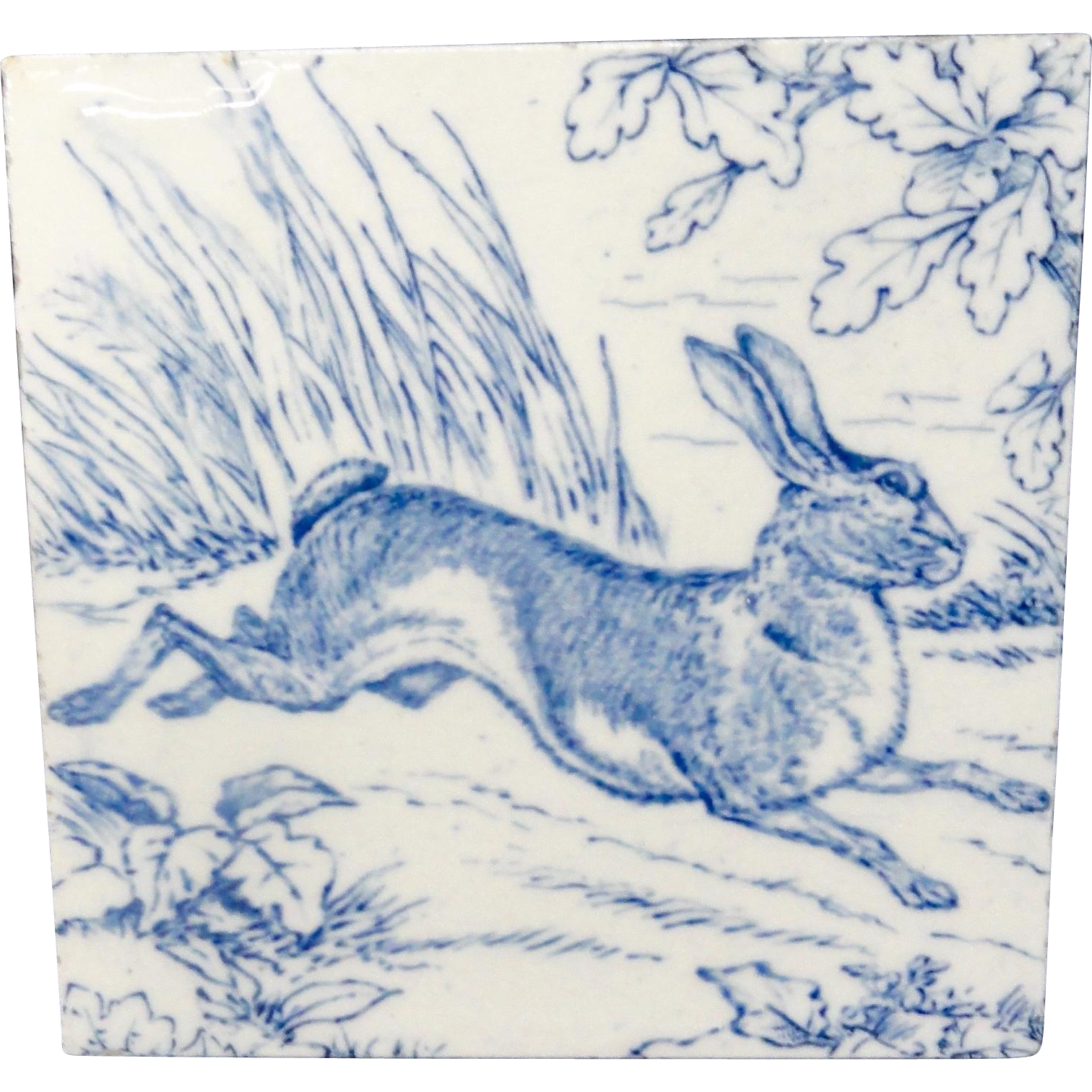 Wedgwood Game Subjects Tile ~ RABBIT 1876