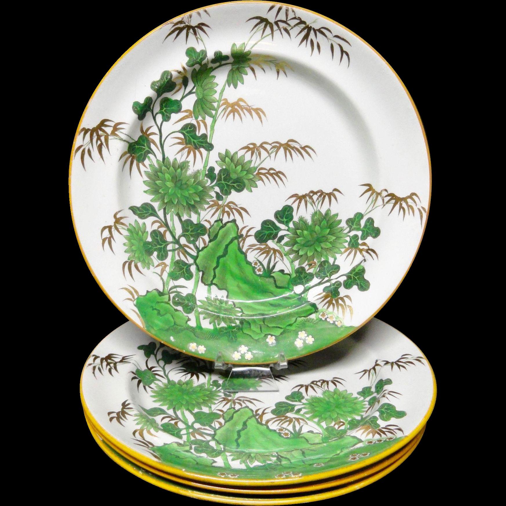 Four ~ Rare Antique Copeland and Garrett Plates ~ 1835