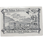 Rare Balkan Sobranie Ceramic Tobacco ADVERTISING Box ~ 1880