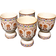 FOUR Antique Victorian Egg Cups ~ CYPRUS 1885
