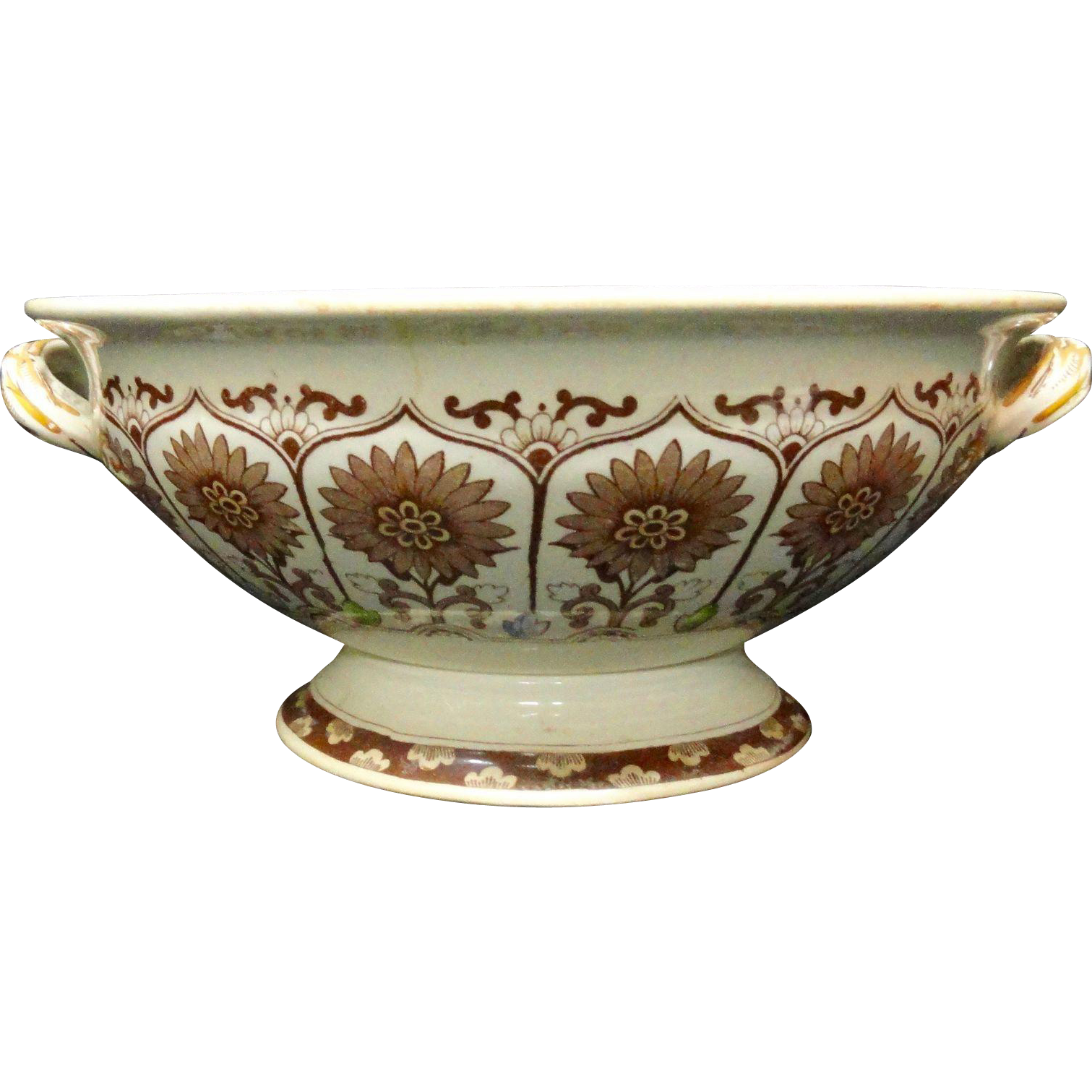 Outstanding English Centerpiece Fruit Comport ~ CYPRUS 1885