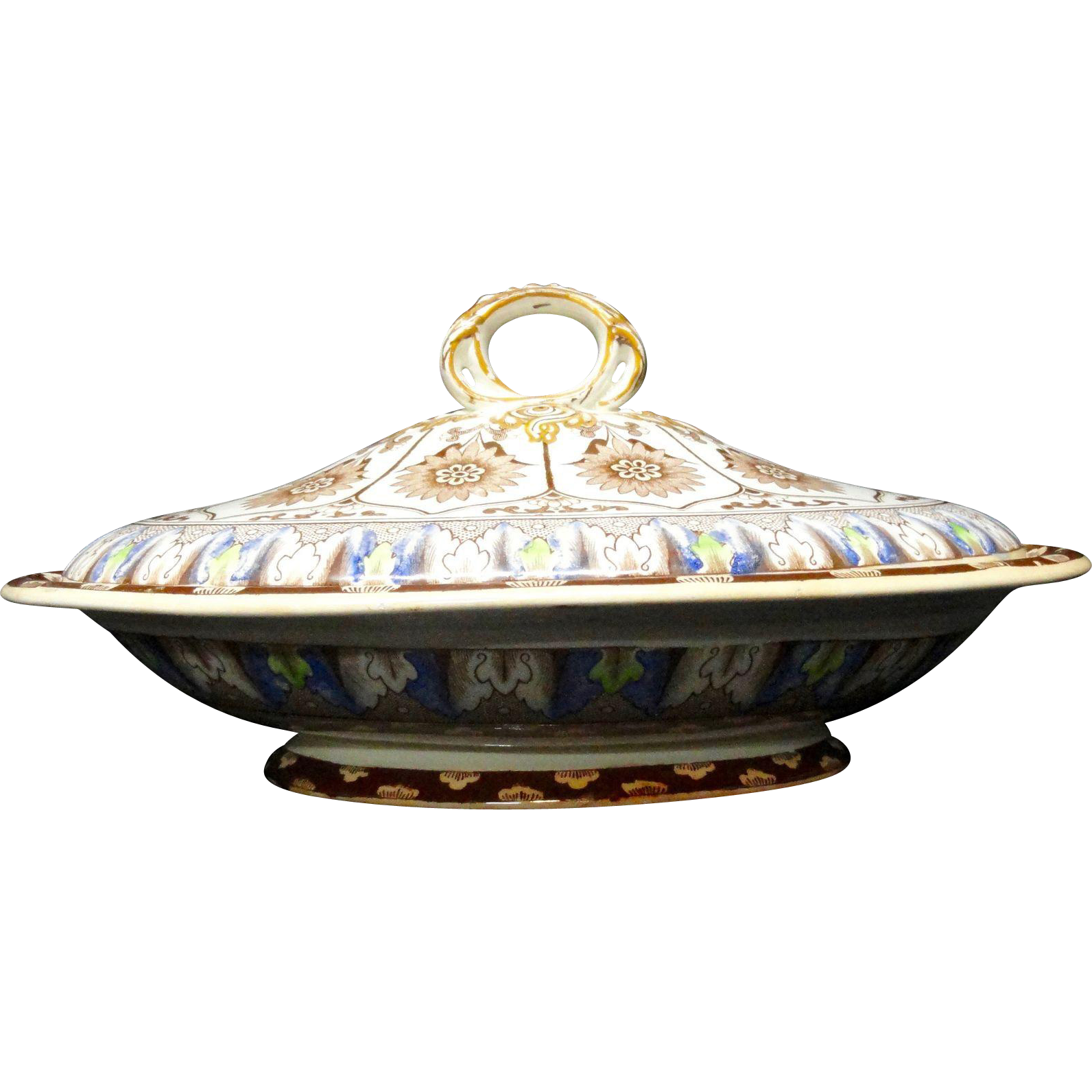 Outstanding English Covered Tureen ~ CYPRUS 1885