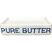 Blue Print English PURE BUTTER Dairy Shop Display Stand