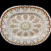 Antique Platter ~ CYPRUS 1885 Brown Transferware Victorian