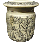 Classical Victorian Potted Meats Pot and Lid