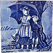 Tile ~ Wedgwood Months ~ APRIL Showers ~ 1879