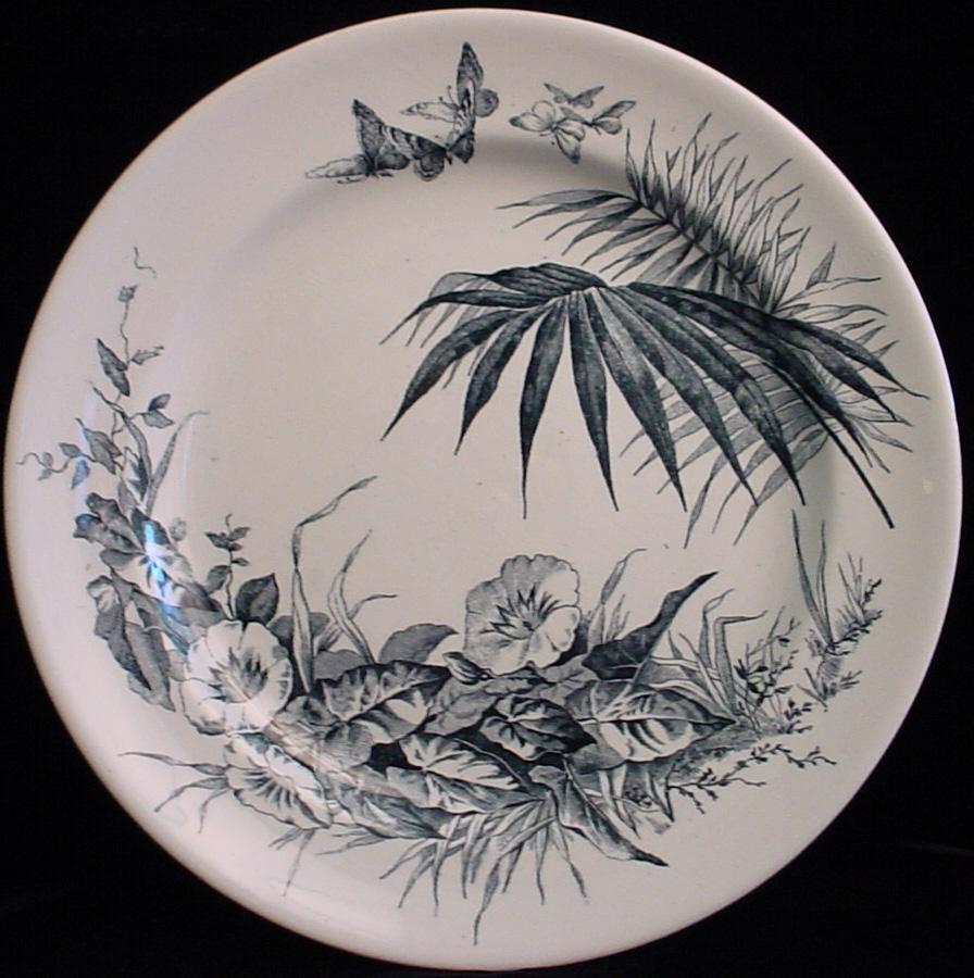 Aesthetic Movement Plate ~ Butterfly Swarm 1879