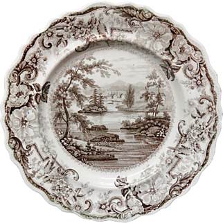 Brown Clews Staffordshire Historical Plate ~ 1820