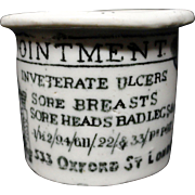 Quack Medicine ~ Sore Breasts / Sore Heads Pot ~ 1880
