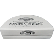 English Ironstone Stilton Cheese Shop Display Covered Stand