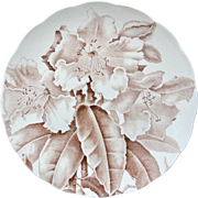 Magnolia Brown Transferware Printed Plate ~ 1885